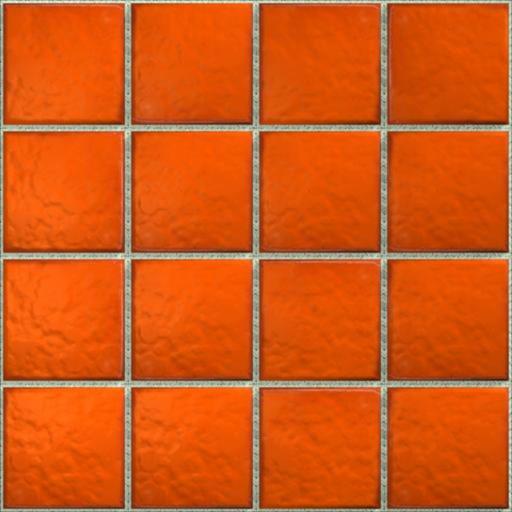 LeMog - 3dTextures - Carrelage Azuleros Unis 1 - Tiles/004 orange vif