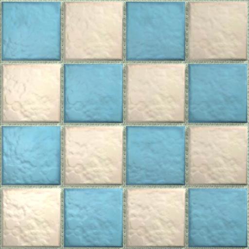 Lemog 3dtextures carrelage azuleros unis 2 tiles 281 turquoise blanc creme - Texture carrelage blanc ...